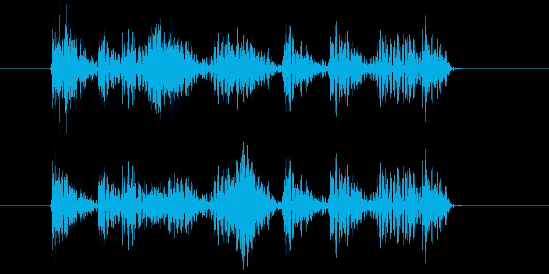 和太鼓と掛け声の再生済みの波形