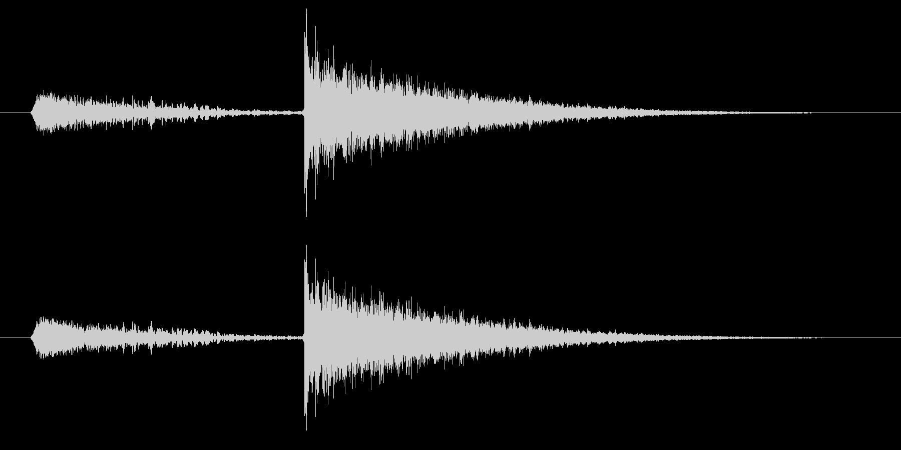 闇のスキルが成長したときの効果音の未再生の波形