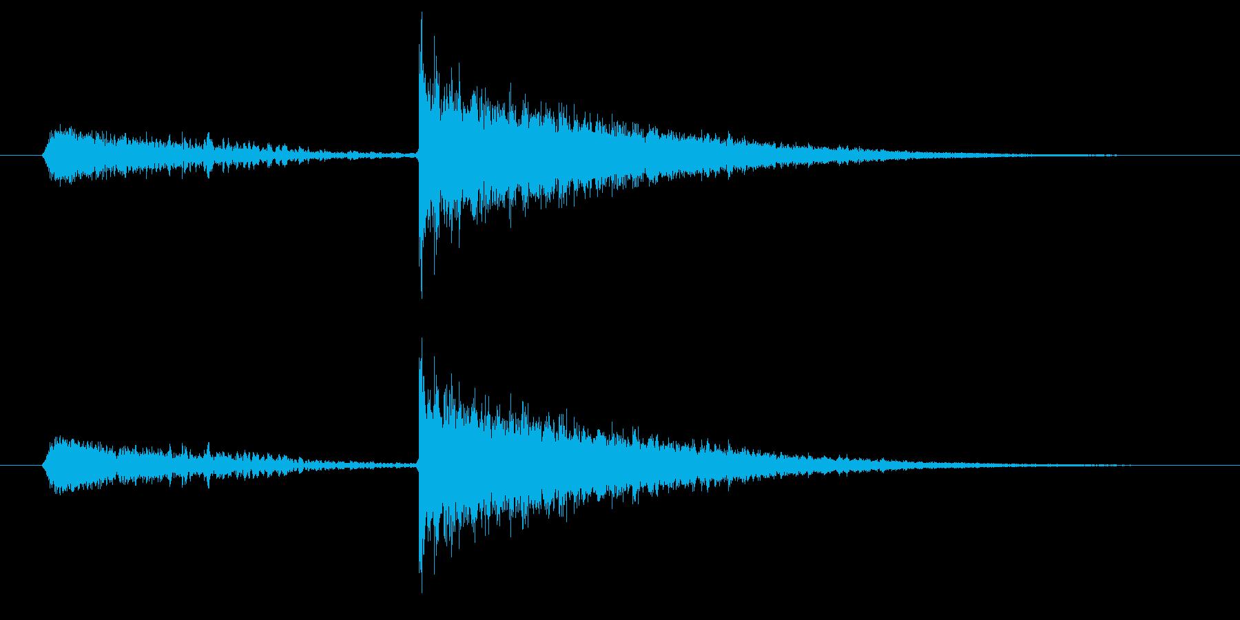 闇のスキルが成長したときの効果音の再生済みの波形