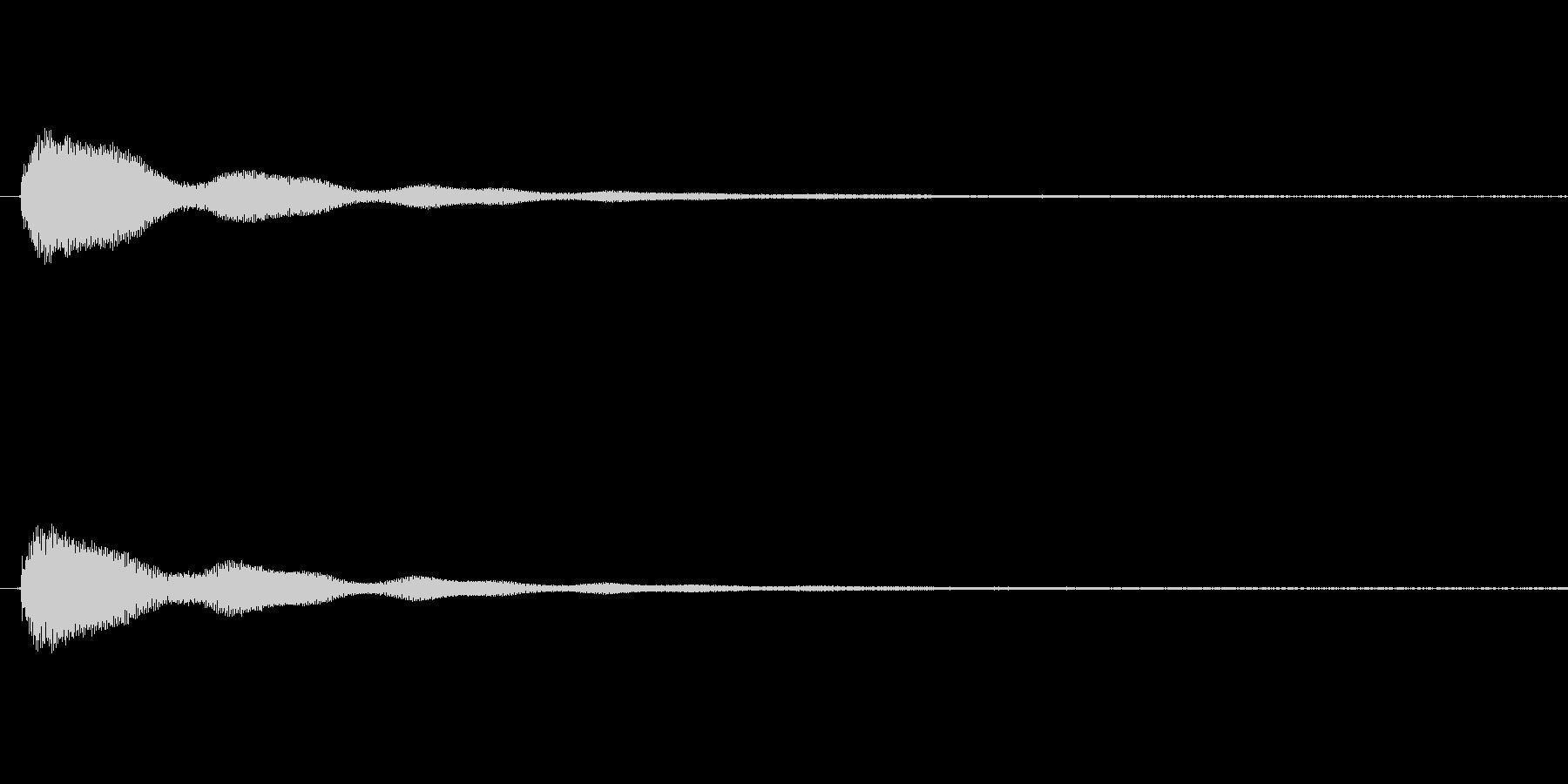 鐘の音 (大1発)の未再生の波形