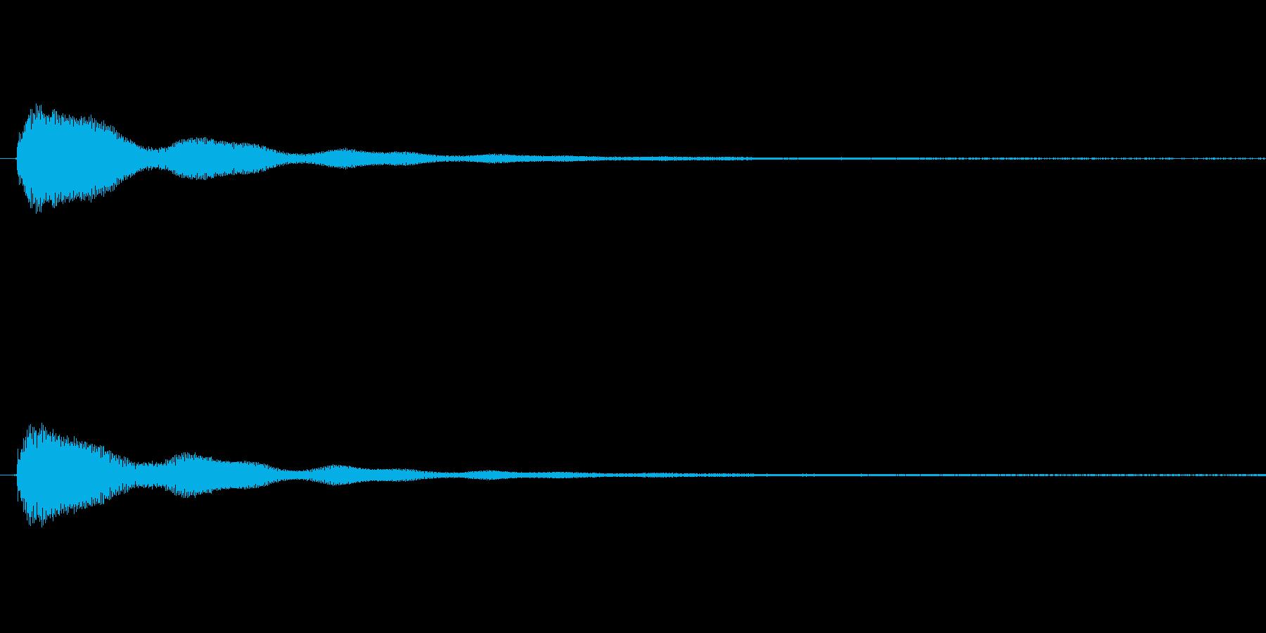 鐘の音 (大1発)の再生済みの波形