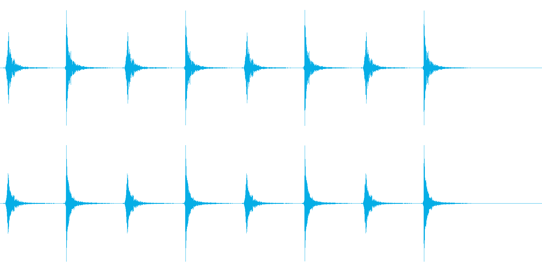カチカチカチカチ(振り子時計、古い)の再生済みの波形