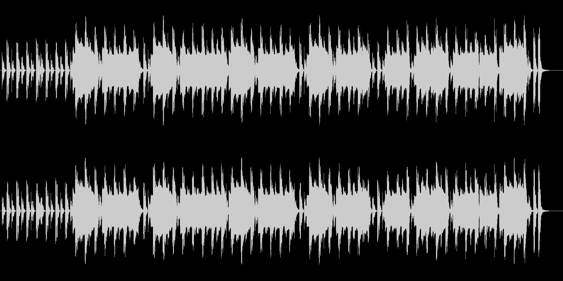 マリンバとフルートのほのぼのしたBGMの未再生の波形