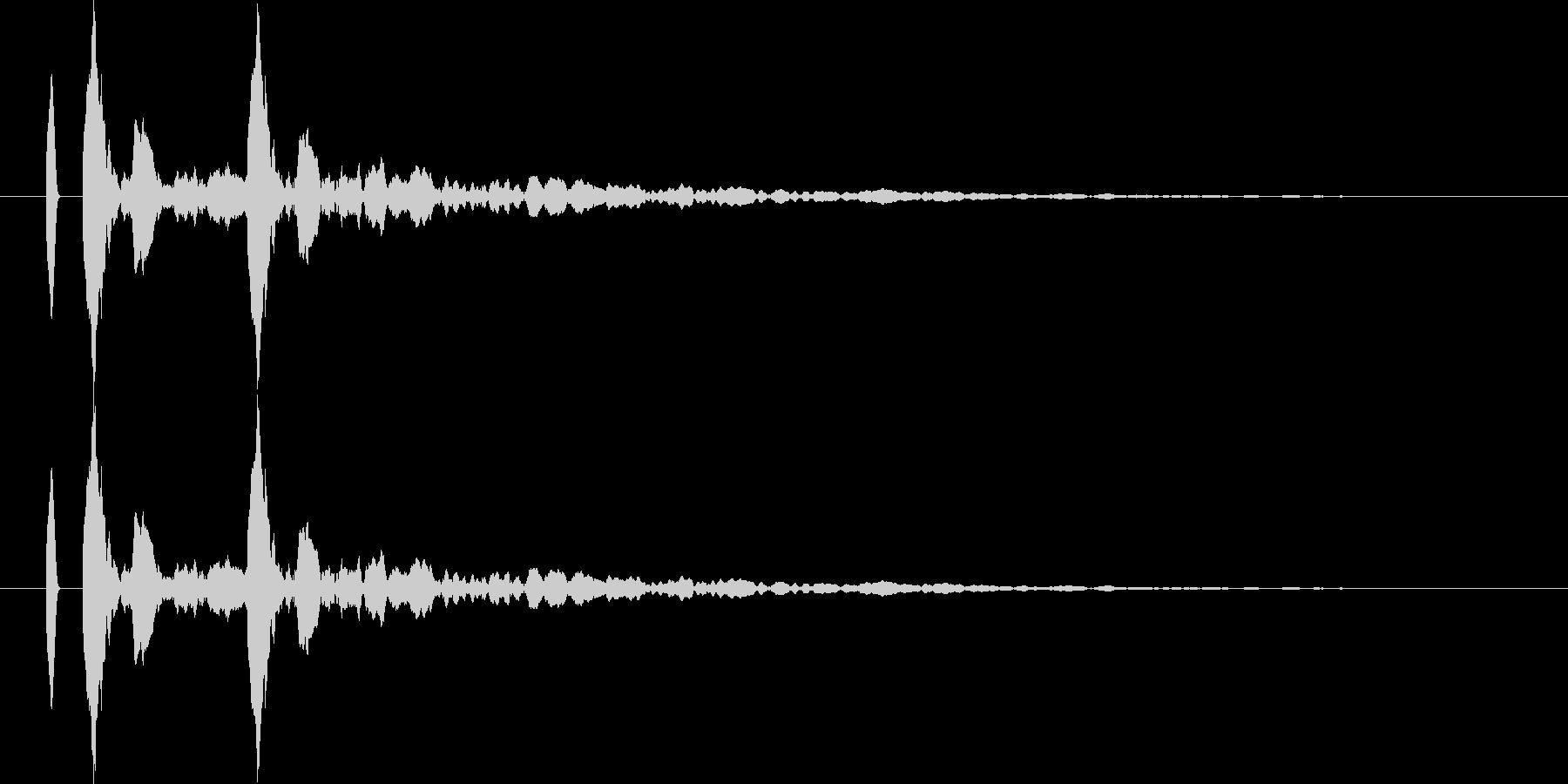 【カカン!】リアルな拍子木の効果音!02の未再生の波形
