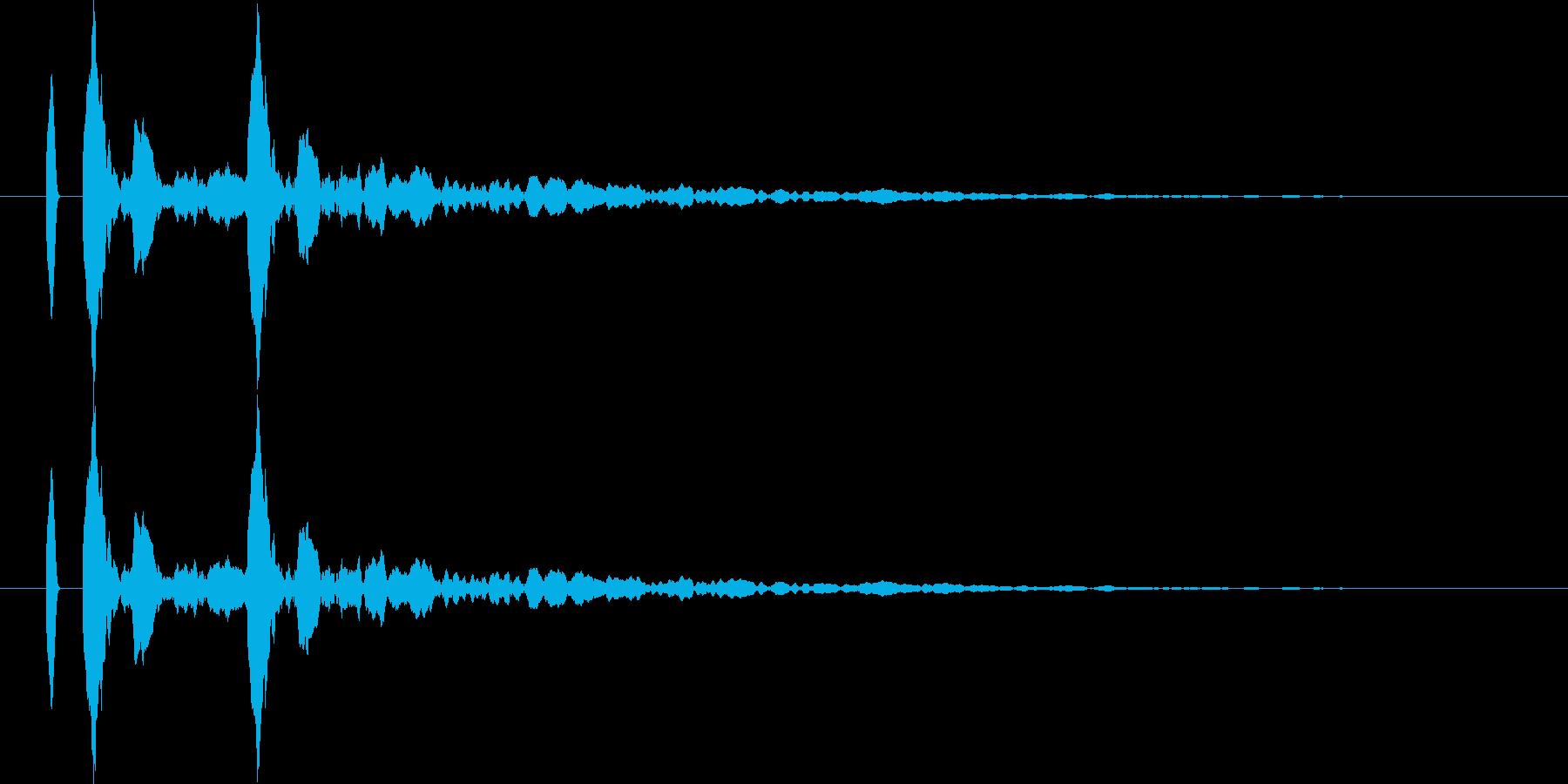 【カカン!】リアルな拍子木の効果音!02の再生済みの波形