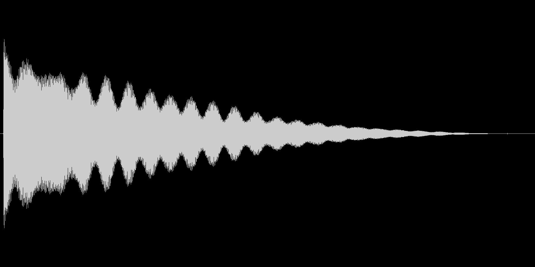 チーン...(お鈴、仏壇、合掌)の未再生の波形