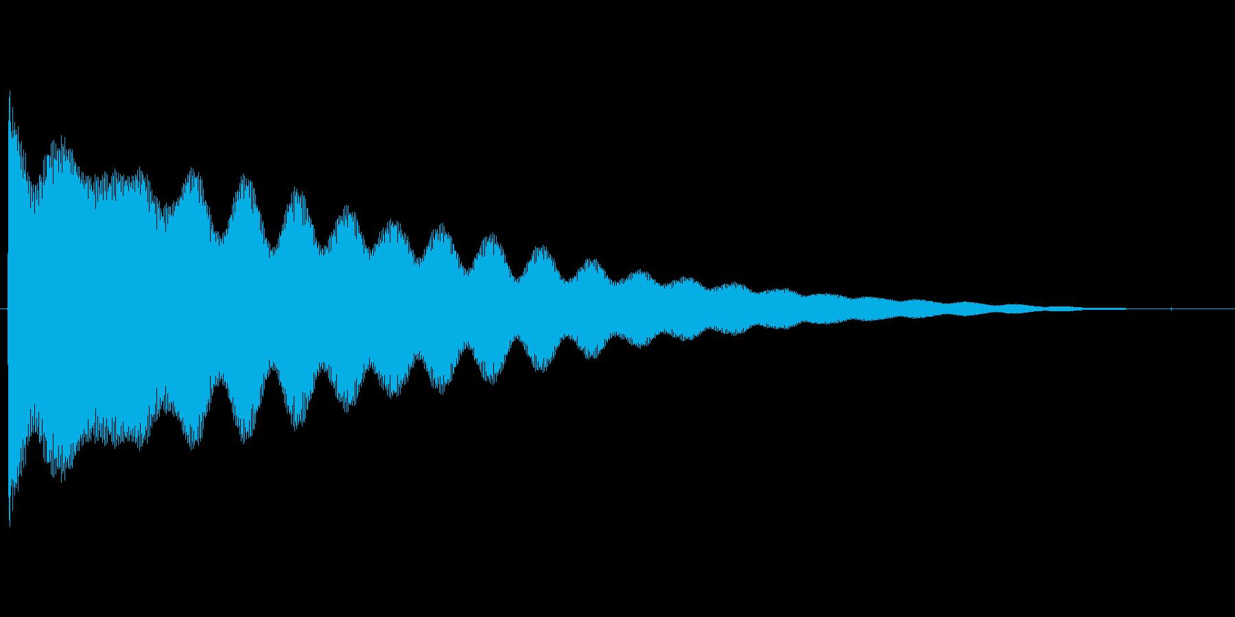 チーン...(お鈴、仏壇、合掌)の再生済みの波形