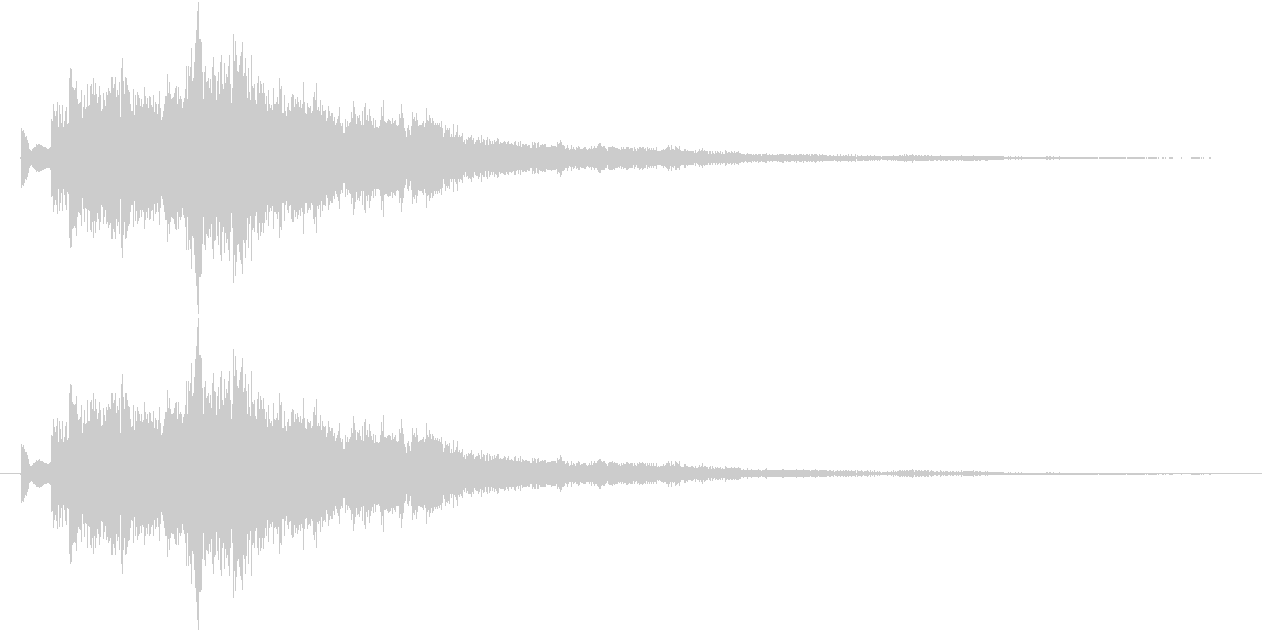 ツリーチャイムによるキラキラ音 上昇の未再生の波形