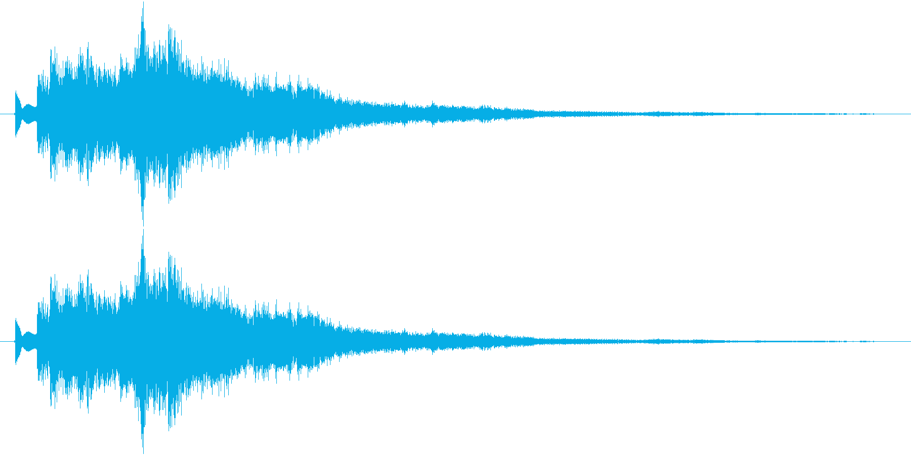 ツリーチャイムによるキラキラ音 上昇の再生済みの波形