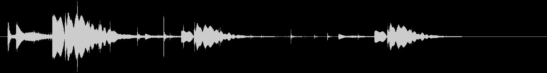 銃の弾(薬莢)が落下するの未再生の波形