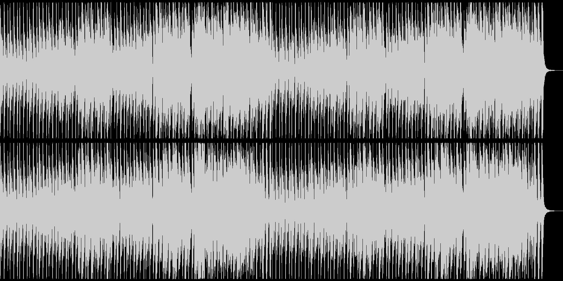 緊迫感のあるタンゴ調BGMの未再生の波形