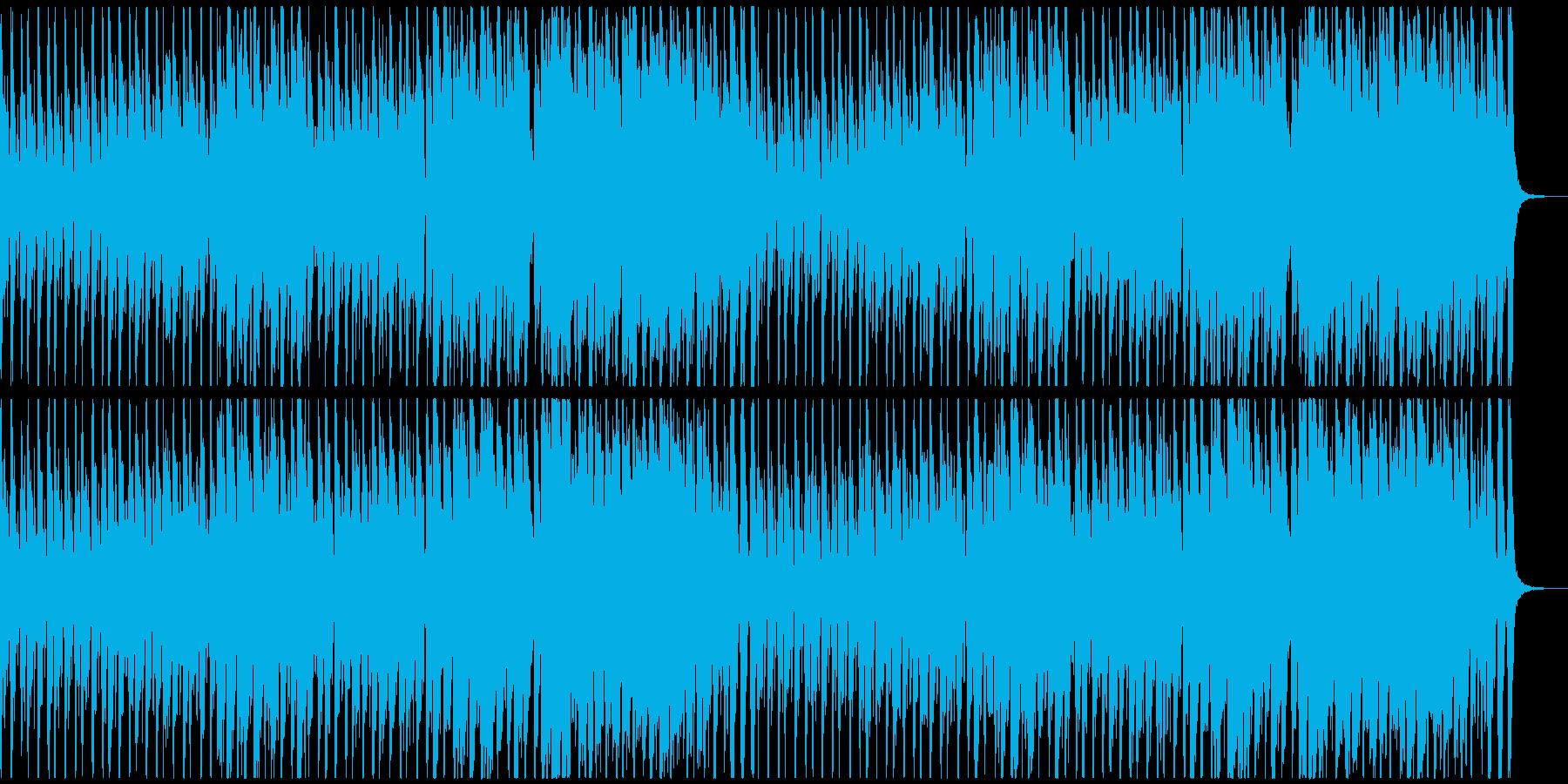 緊迫感のあるタンゴ調BGMの再生済みの波形