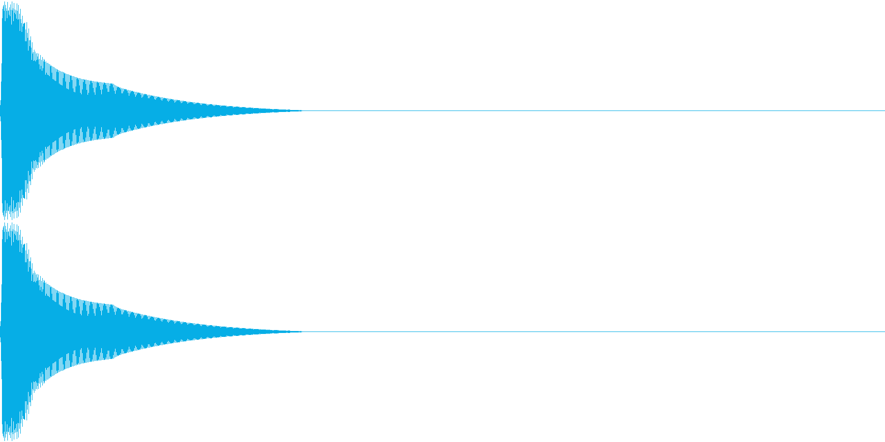 PureTouch アプリ用タッチ音12の再生済みの波形