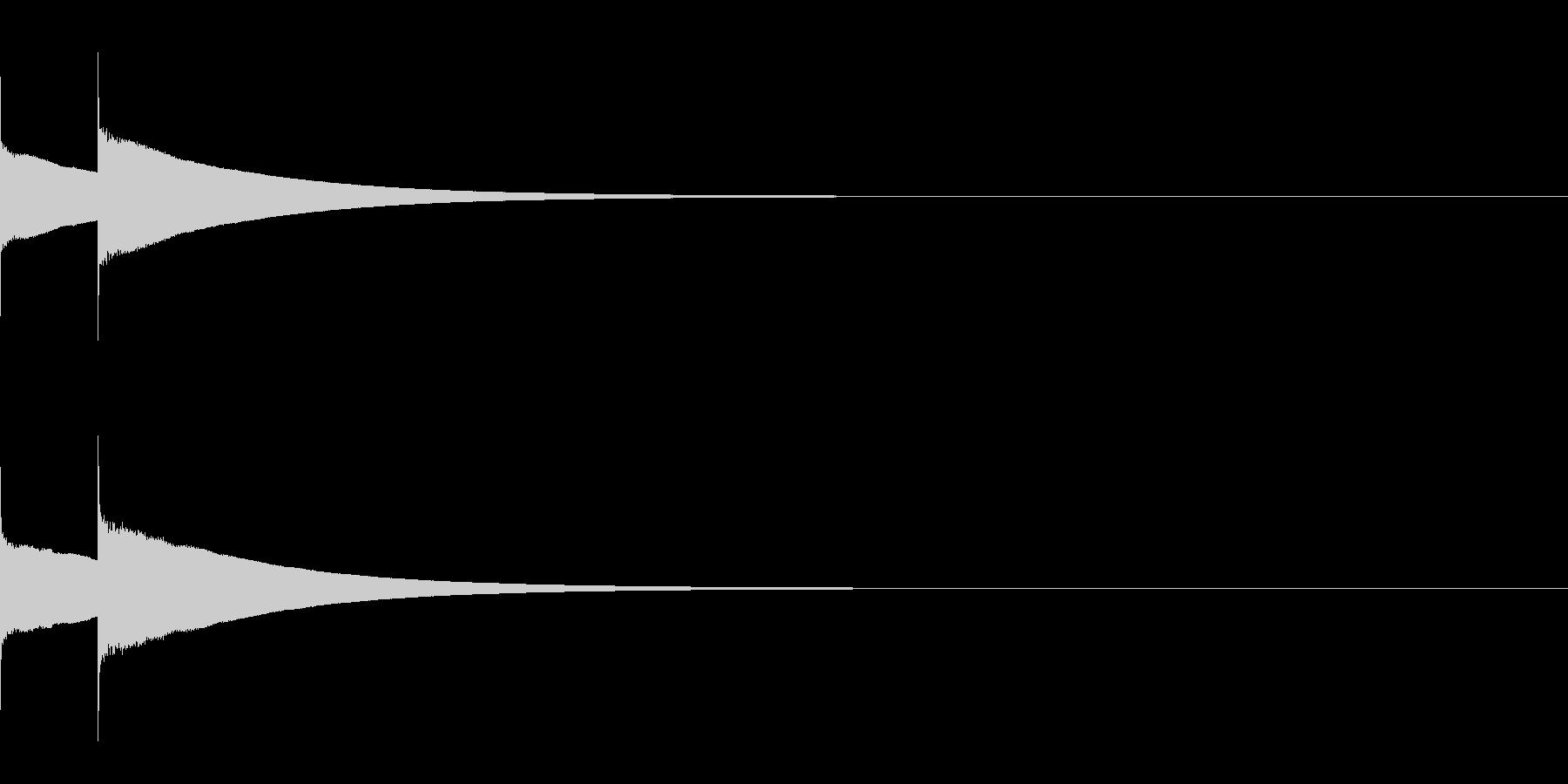 薬のCMに出てくるピンポンの未再生の波形