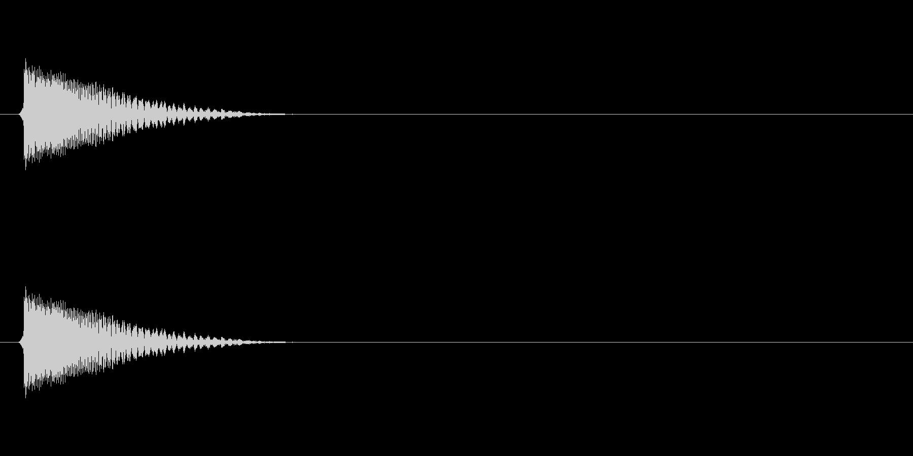 ティウー↓(敵破壊、ロスト、打撃)の未再生の波形