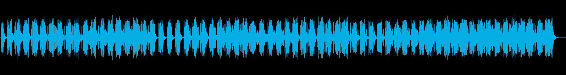 近未来的なベースが響くアップテンポの曲の再生済みの波形
