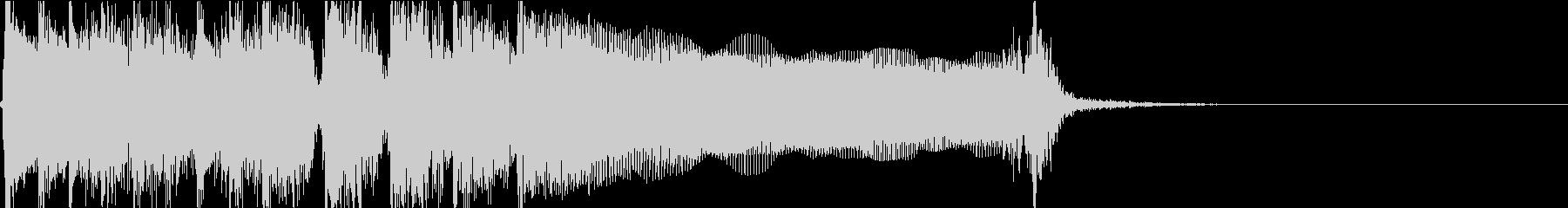 生演奏でのハードなロックジングルM2の未再生の波形