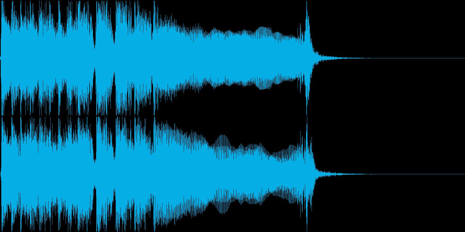 生演奏でのハードなロックジングルM2の再生済みの波形