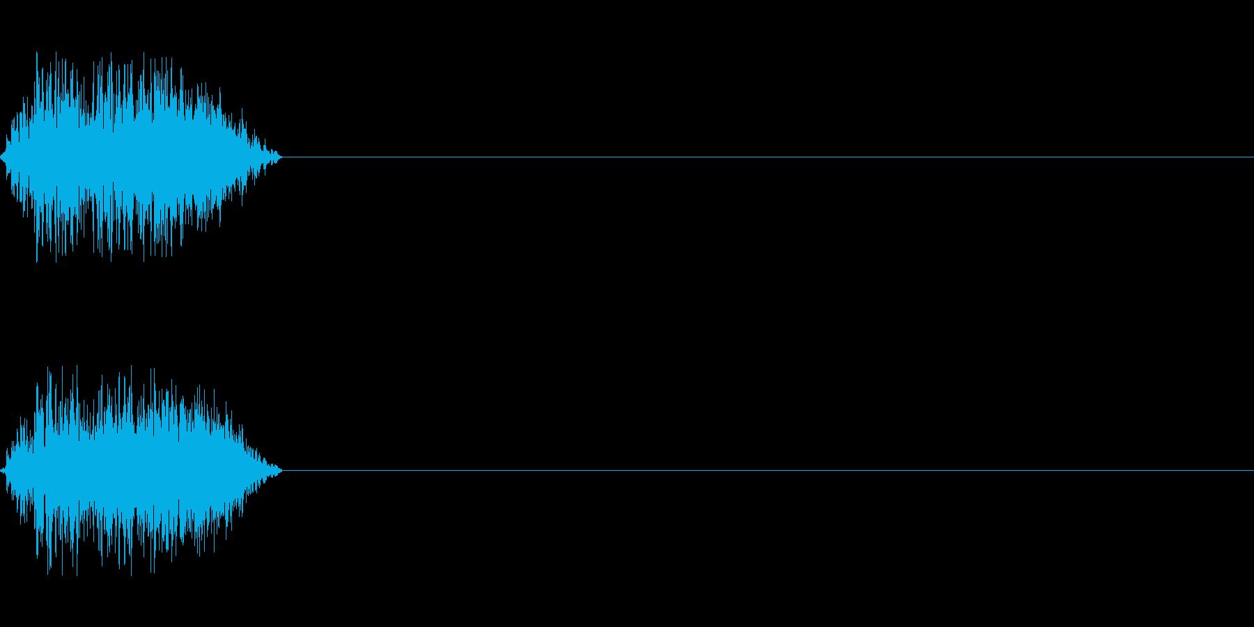 ビーム ワンショット4の再生済みの波形