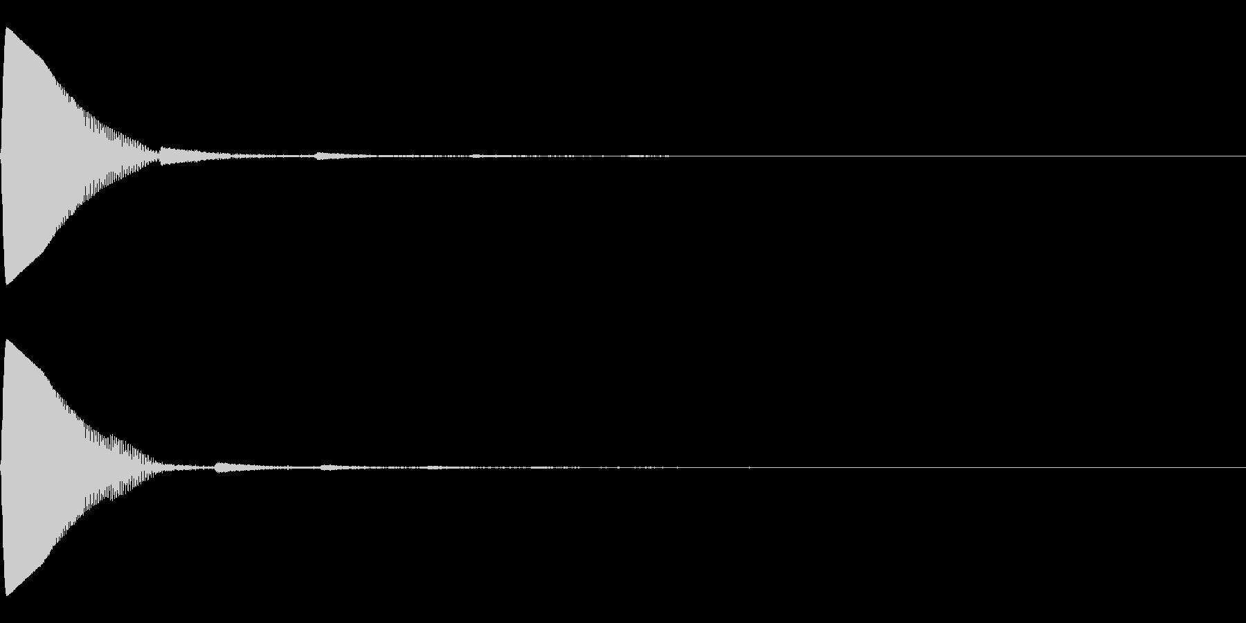 シンプル効果音 ポーン ジャンプ 投げるの未再生の波形