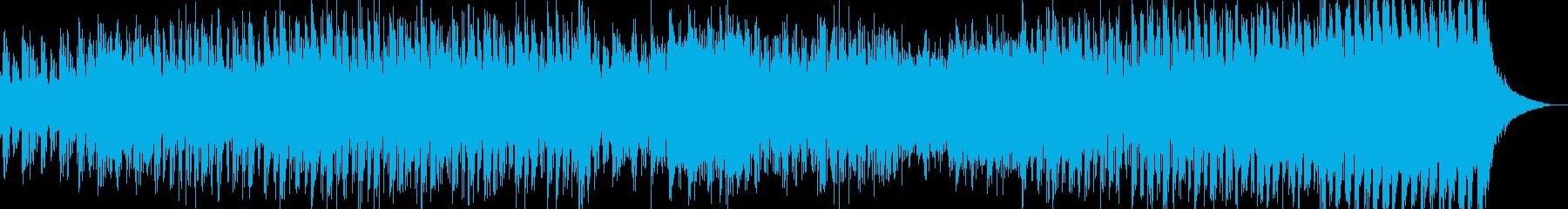 青と緑の夏の景色をイメージの再生済みの波形