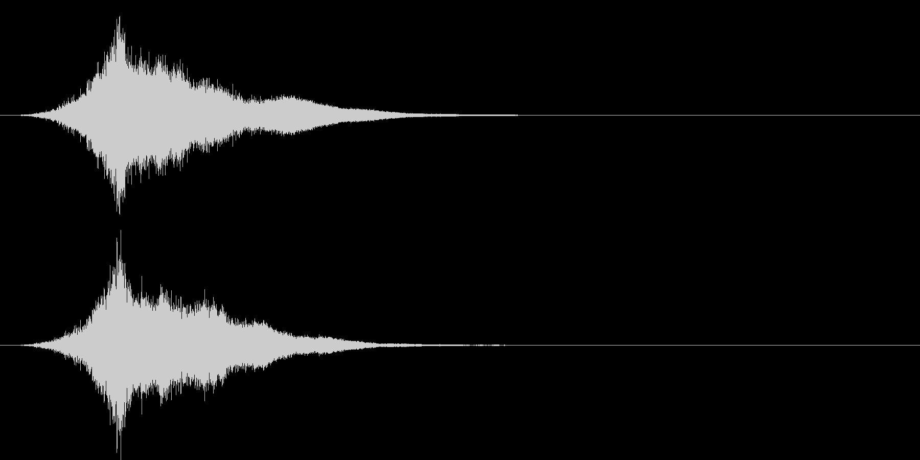 タッチ チャンス(キーン…シャァァァン)の未再生の波形