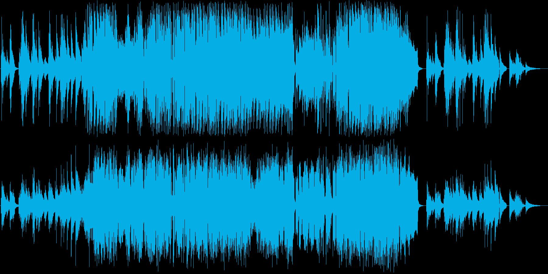 ノリの良い和風ジャズの再生済みの波形