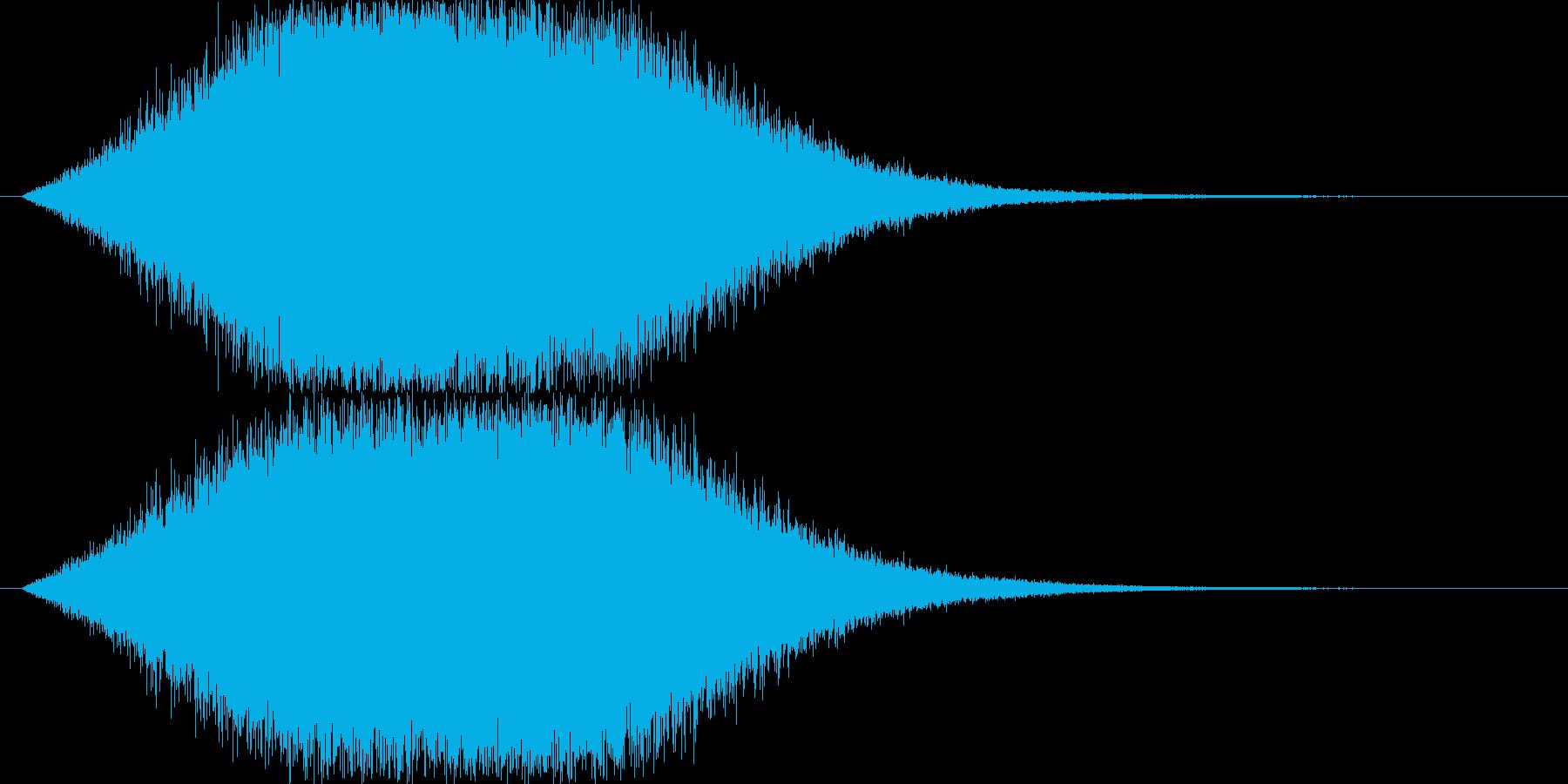 風が吹く音(風の魔法・小さめの竜巻)の再生済みの波形
