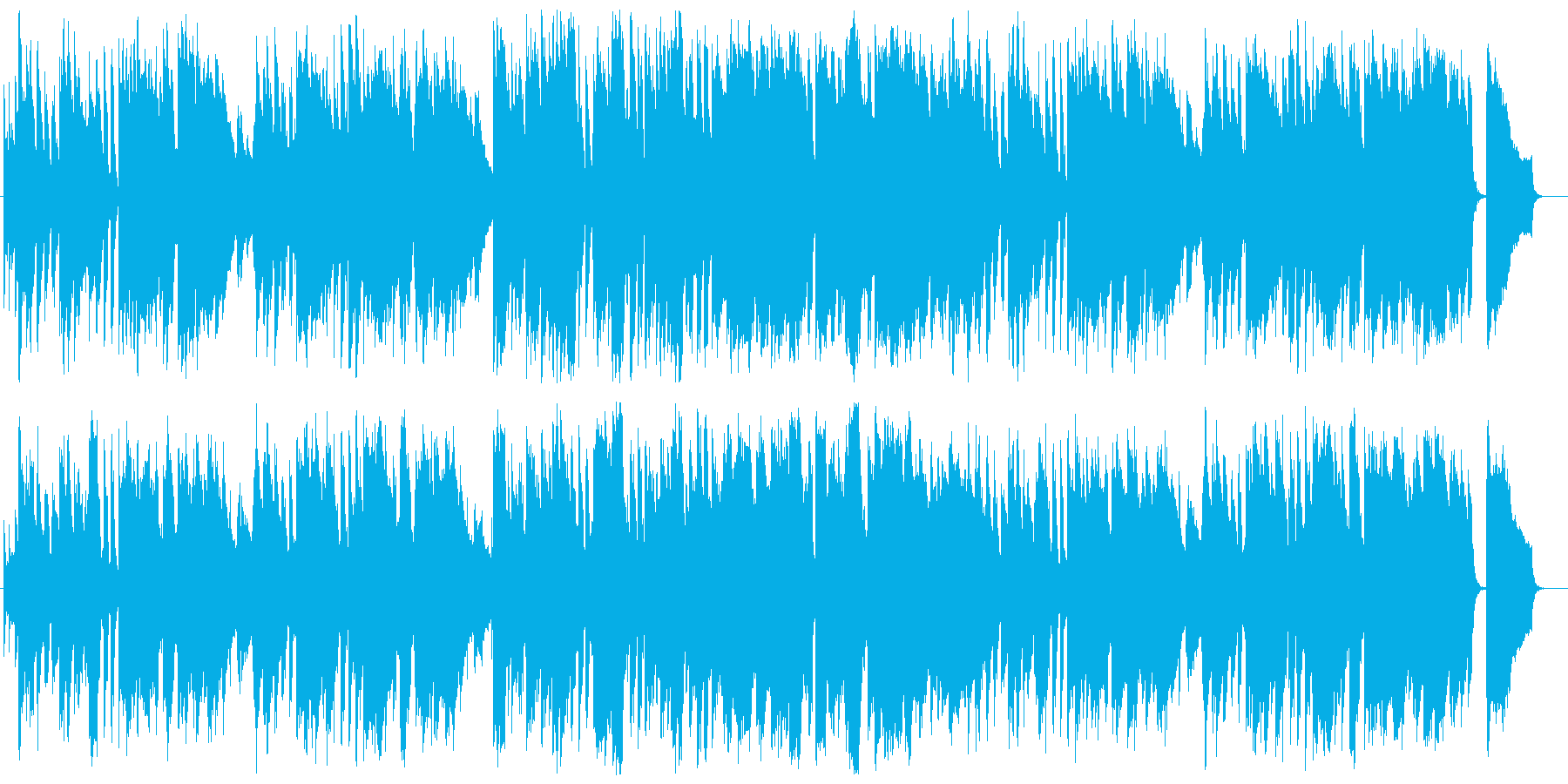 明るくお洒落で爽やかボサノバBGMの再生済みの波形