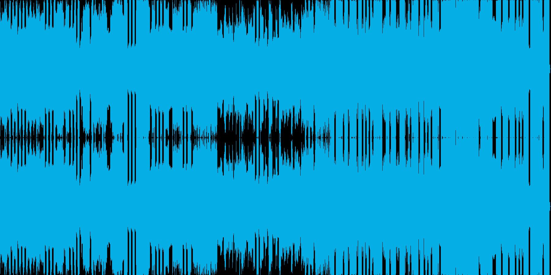 ポップな雰囲気のチップチューンの再生済みの波形
