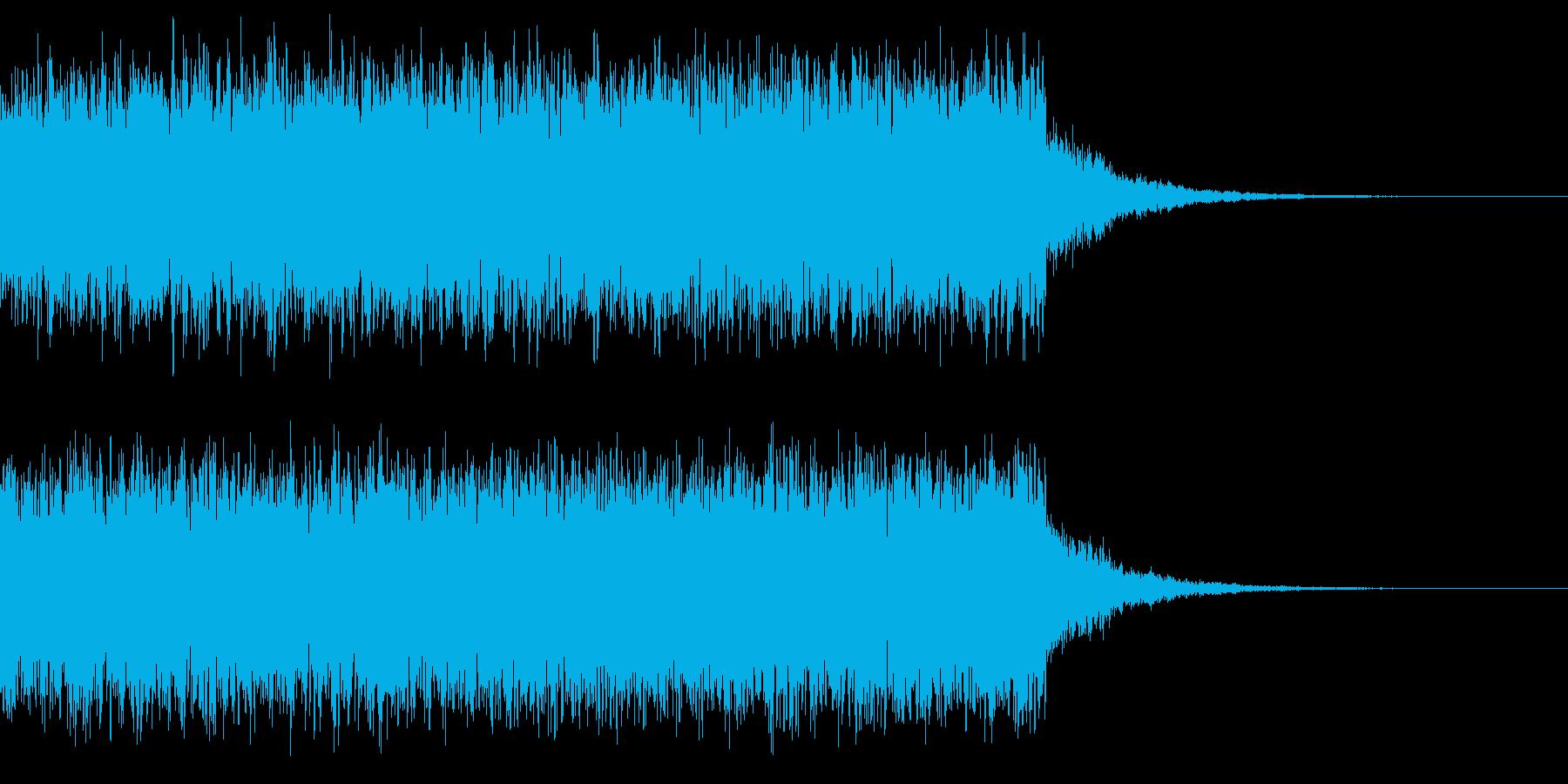 サイレンの音2の再生済みの波形