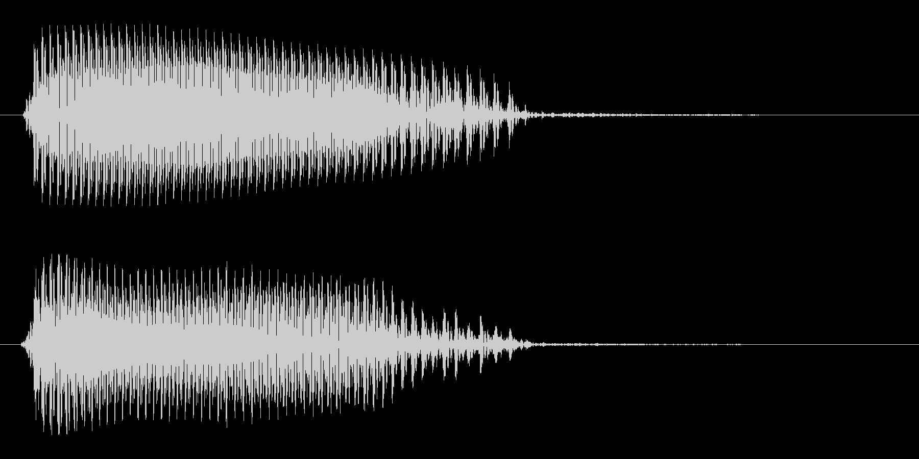 カラスの鳴き声の効果音の未再生の波形