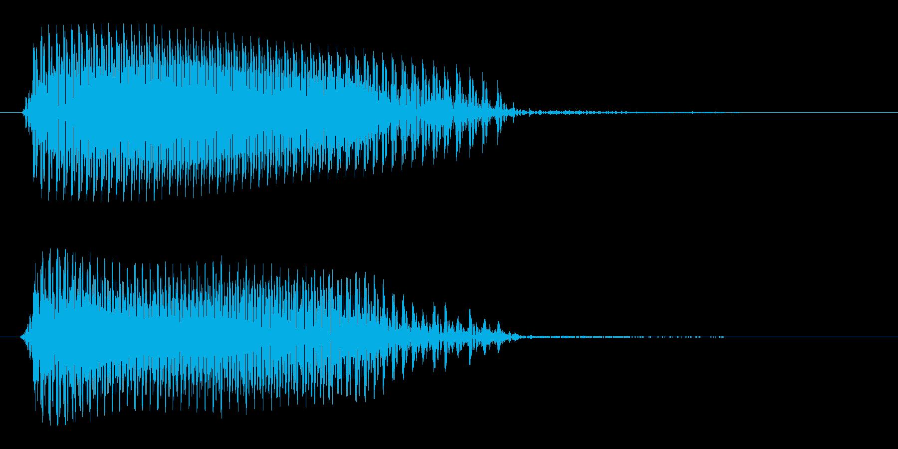 カラスの鳴き声の効果音の再生済みの波形