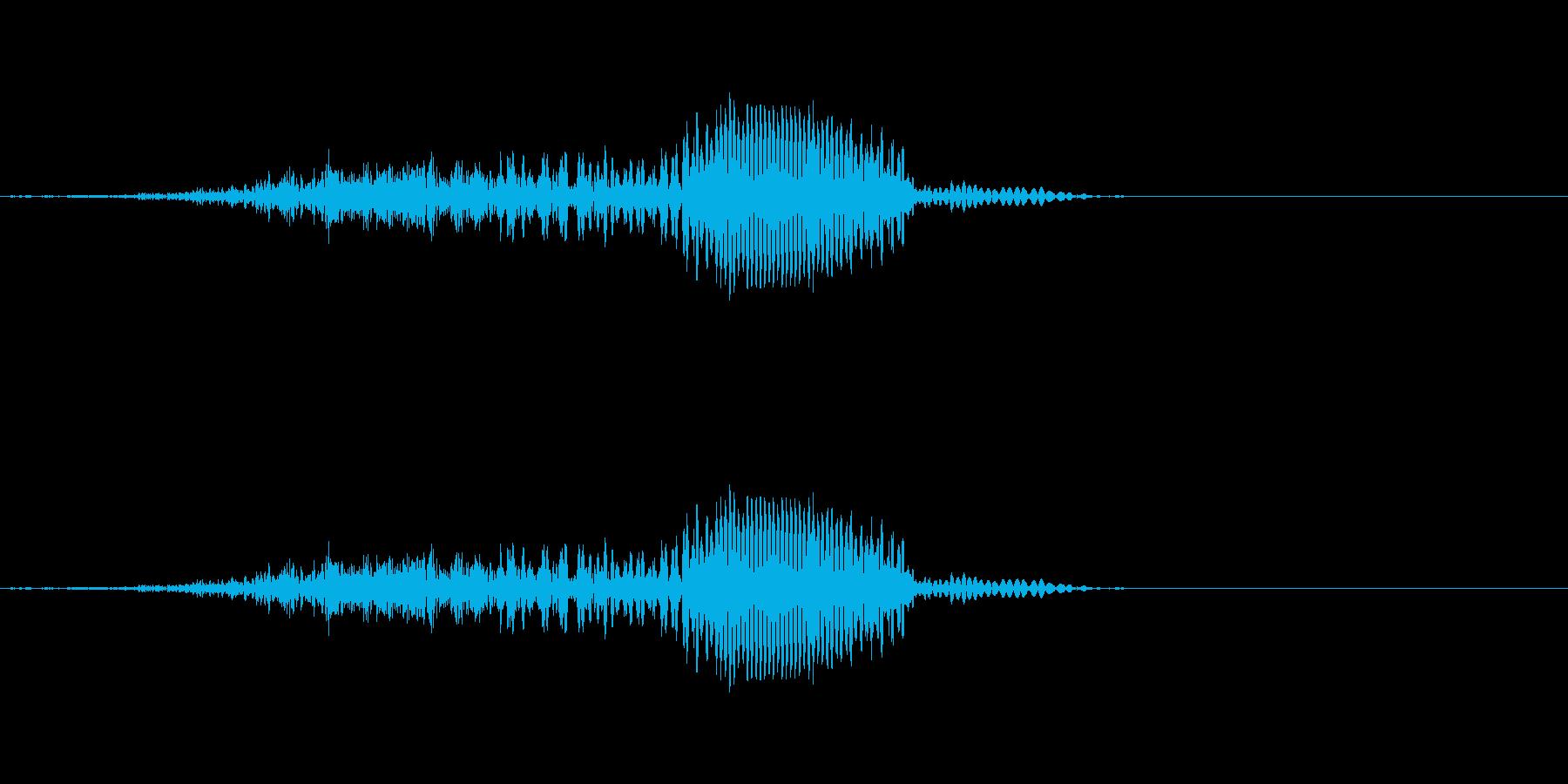ほっ!! - 男性和風掛け声の再生済みの波形