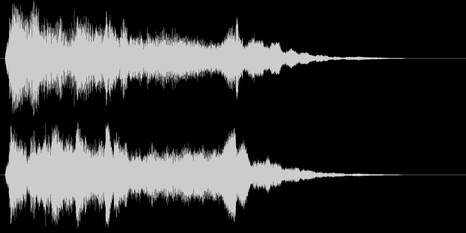 シンプルで美しい映像オープニングロゴの未再生の波形