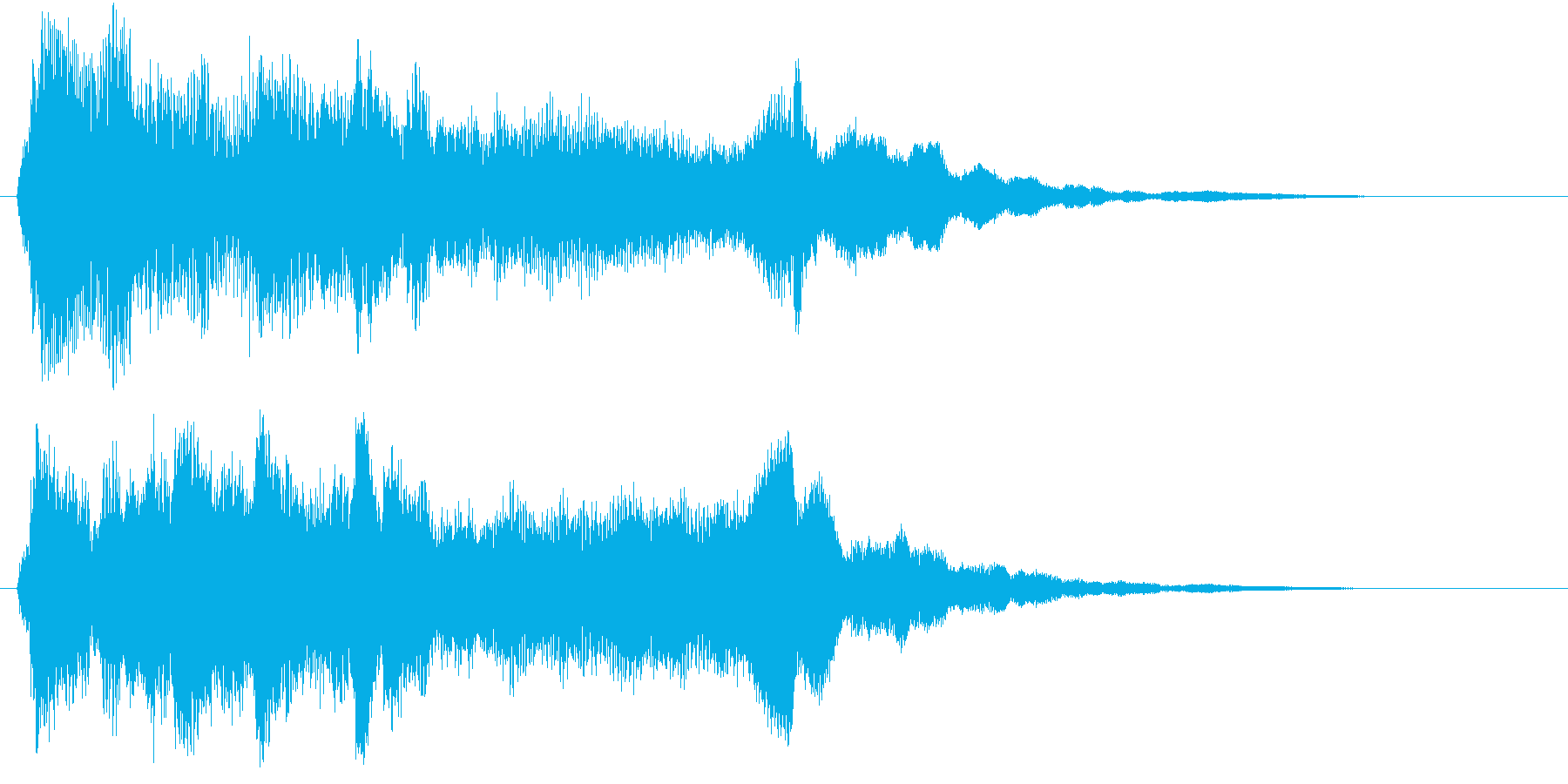 シンプルで美しい映像オープニングロゴの再生済みの波形