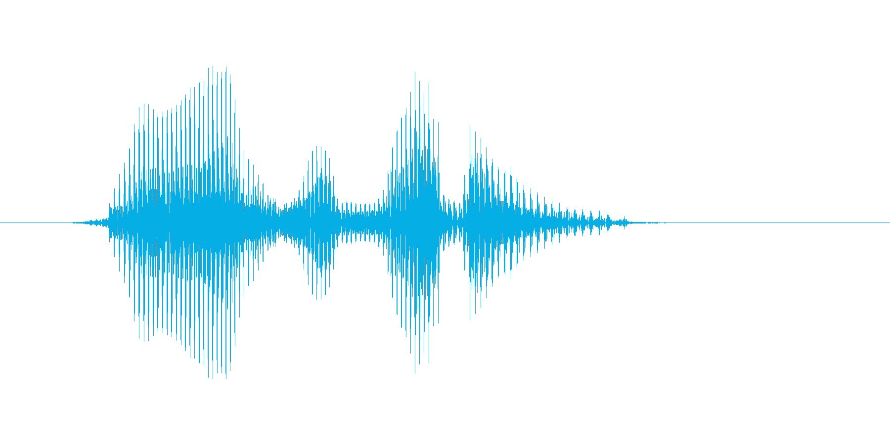 ハーフボレーの再生済みの波形