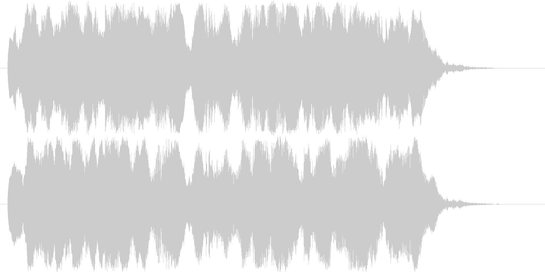 シリアスなシーンの始まりに合うBGMの未再生の波形