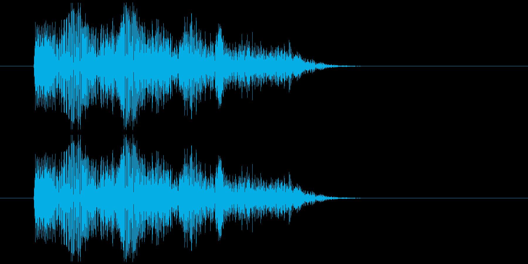 きもいグジュグジュ音の再生済みの波形