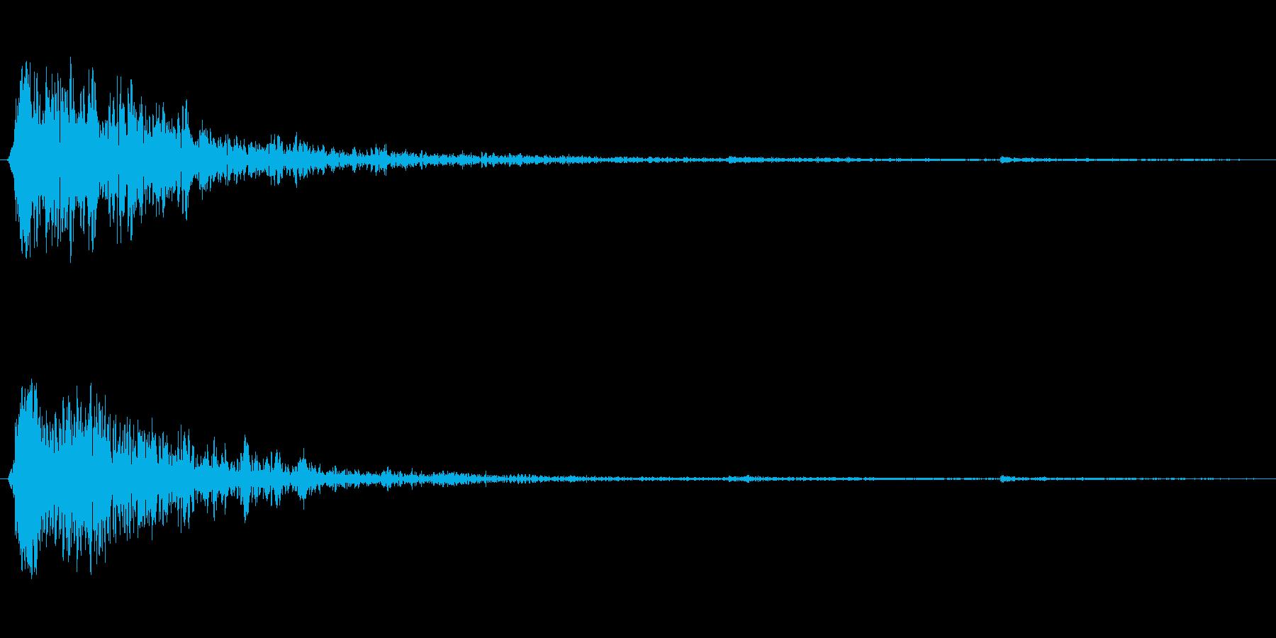 ハリウッド風切り替え音・衝撃音の再生済みの波形