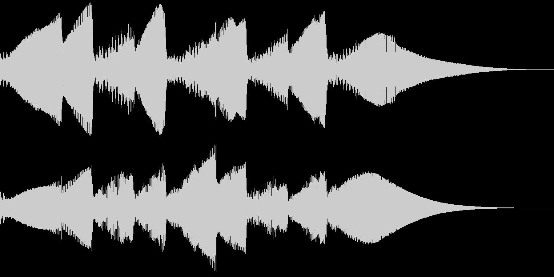 5秒CM用、ほのぼの家族verFの未再生の波形