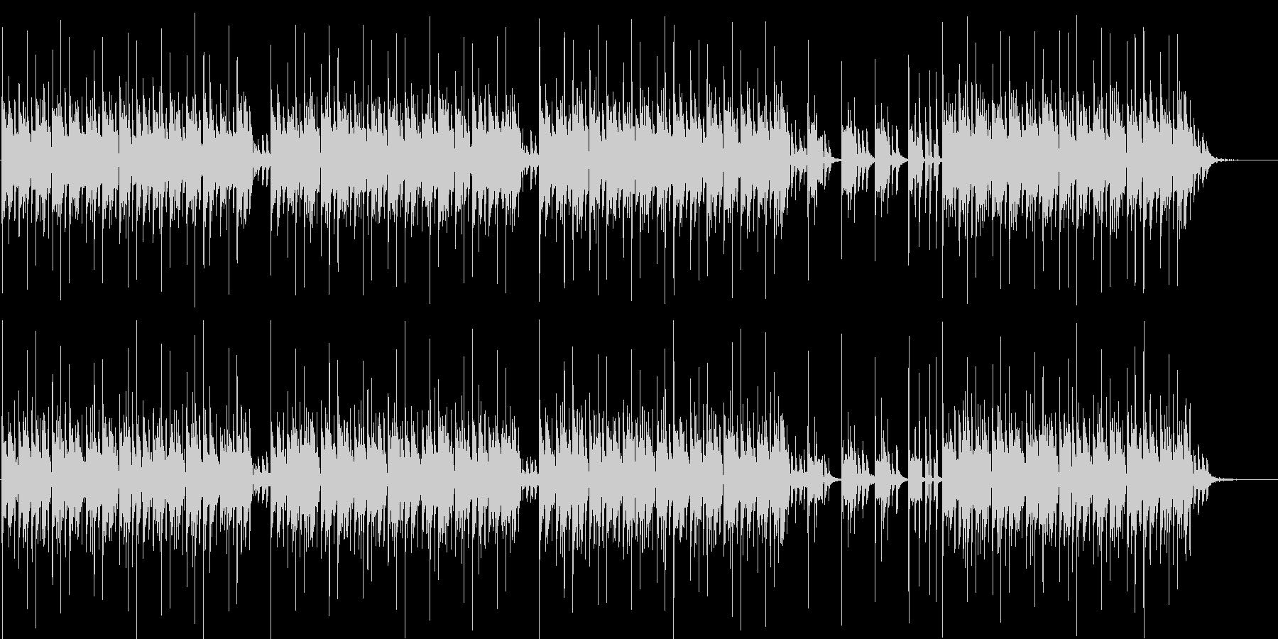 エレクトリックなリズムのBGMの未再生の波形