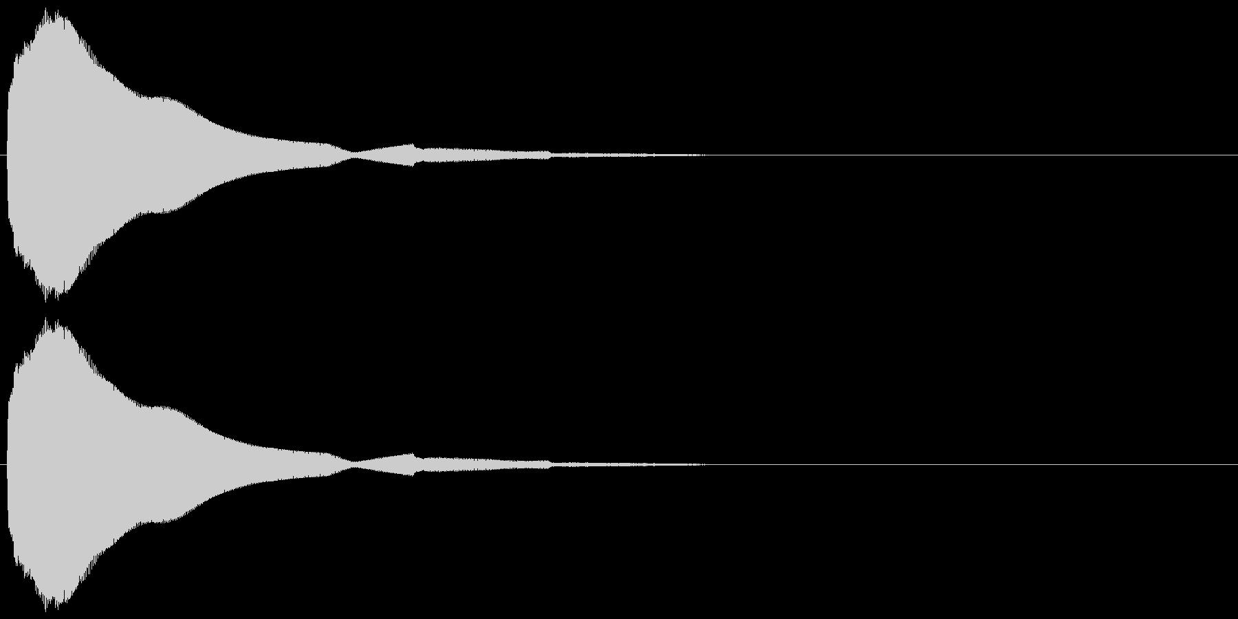 ビブラフォンとシンセで作ったボタン音の未再生の波形