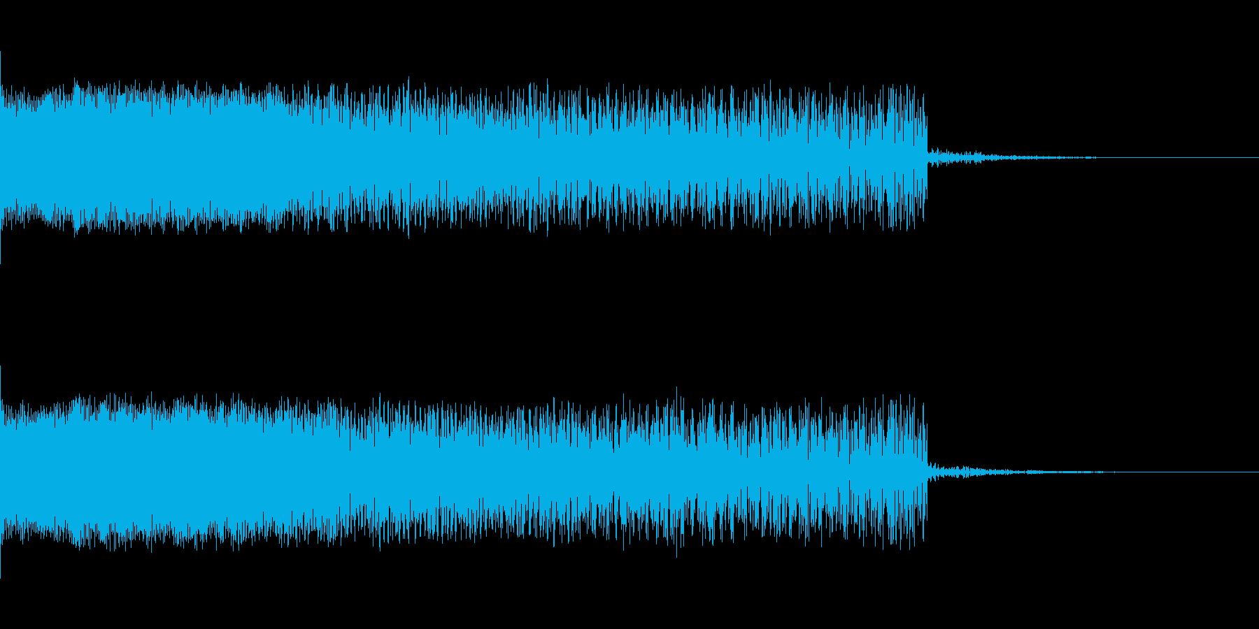 下降音 シンセ01 【4秒】の再生済みの波形