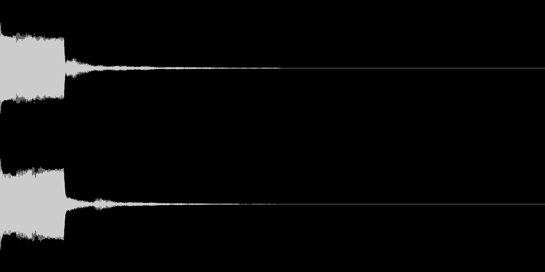 決定音28(シンセO)の未再生の波形