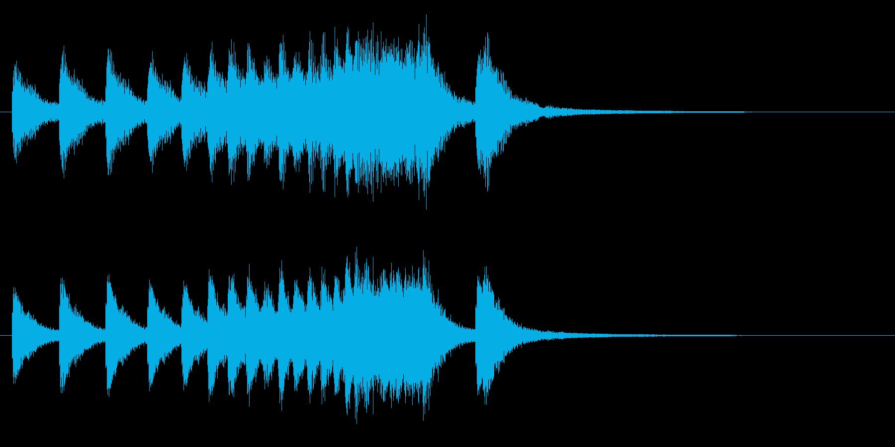中国銅鑼ロール3の再生済みの波形