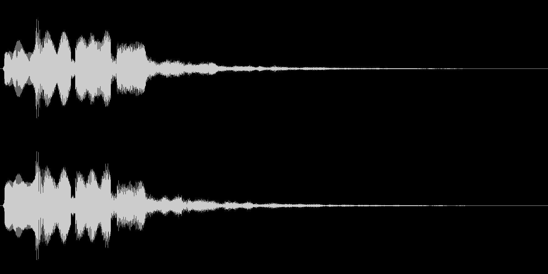 決定音(はっきりとした音)の未再生の波形
