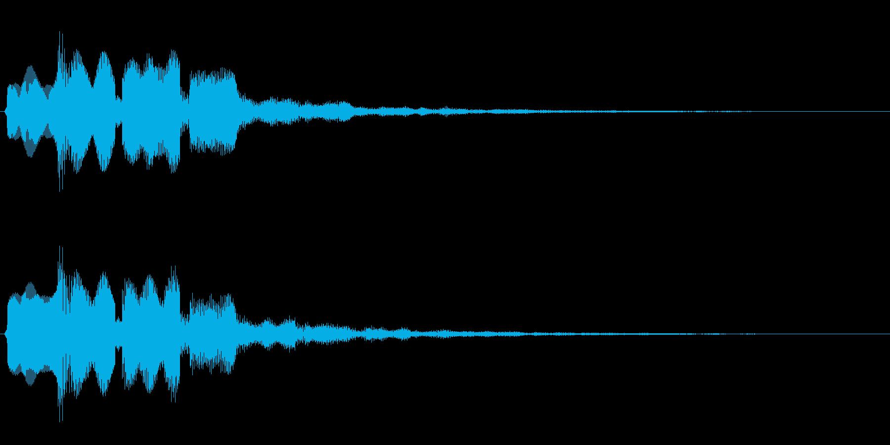決定音(はっきりとした音)の再生済みの波形