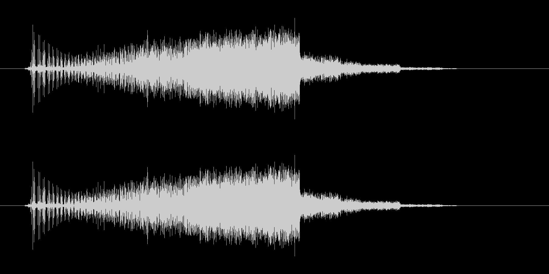 セレクト音(ギュイーン)の未再生の波形