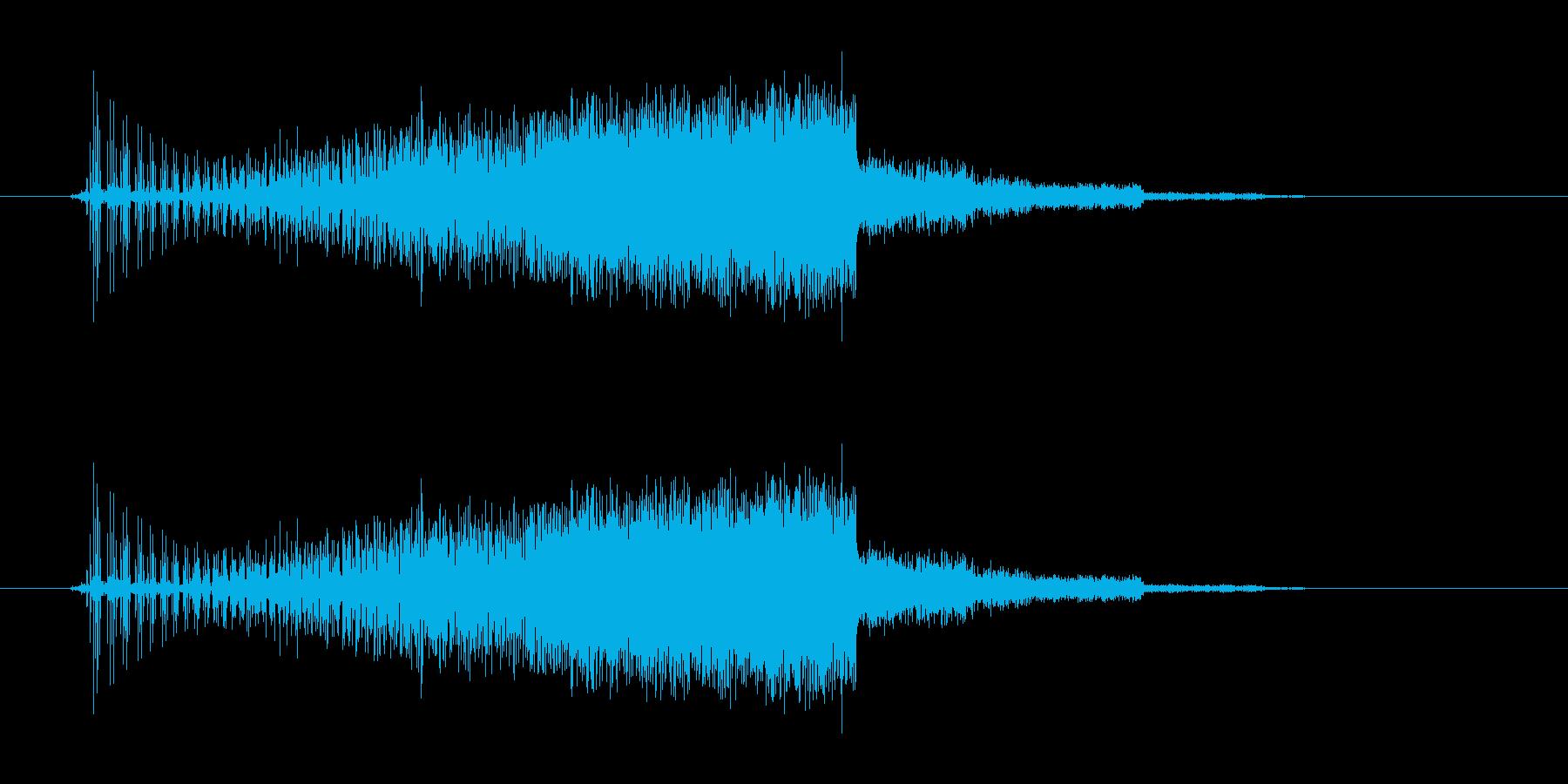 セレクト音(ギュイーン)の再生済みの波形